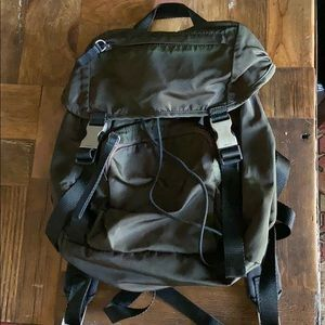 Small nylon Prada Tessuto backpack olive green